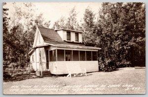 Hayward WS~Helseys Cabin~Musky Haven on Crane Lake~Chipewa Flowage~1916 RPPC