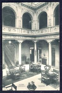 Hotel Castilla Dining Room Toledo Spain unused c1920's