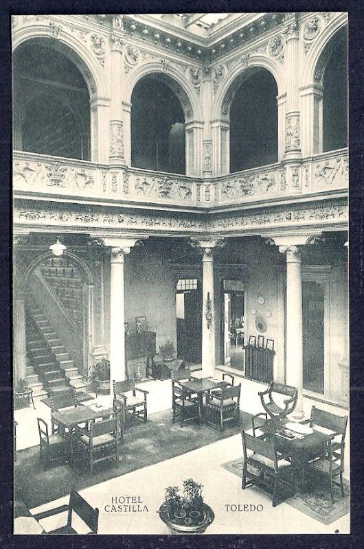 Hotel Castilla Dining Room Toledo Spain unused c1920's