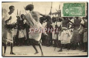 Old Postcard Djibouti Somalis Dances warlike TOP