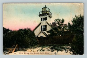 Old Mission Point MI-Michigan, Lighthouse Vintage Postcard