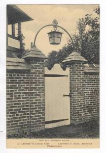 Gateway to Rear Yard, Lawrence V. Boyd Architect, Philadelphia, Pennsylvania,...