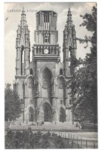 Belgium Bruxelles Laeken Eglise Notre Dame Vintage Postcard