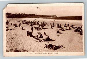 RPPC of Sydney New South Wales Australia, Maroubra Beach, Postcard