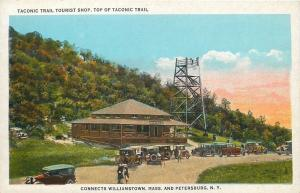 Williamstown MA~Petersburg NY~Taconic Trail Tourist Shop~Observation Tower~Cars