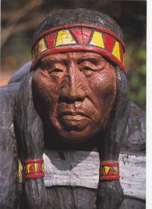 Native Indian Wood Carving Mary Capilano, Capilano Suspension Bridge , B.C....