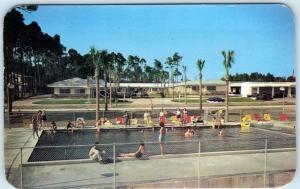 BILOXI, Mississippi  MS    Roadside SUN-N-SAND HOTEL COURT  Pool c1950s Postcard