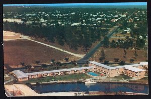 Florida ~ Aerial View of University Court Motel CORAL GABLES Chrome 1950s-1970s
