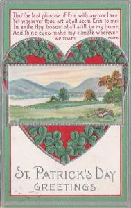 Saint Patrick's Day Landscape Scene With Heart Of Shamrocks 1923