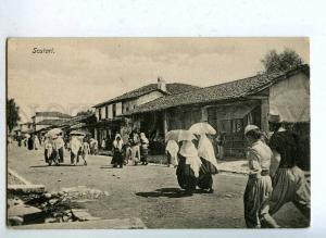 203056 ALBANIA SCUTARI street view Vintage postcard