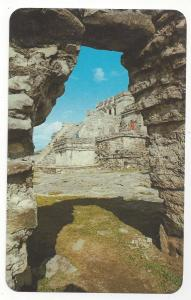 Mexico Tulum Inner Citadel Southern Entrance Vintage Quintana Roo Postcard