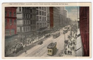 State Street, Chicago, North From Monroe, Showing Motor Bus