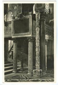 Italy, Palermo, Cappella Palatina, Il Candelabro, used real photo Postcard