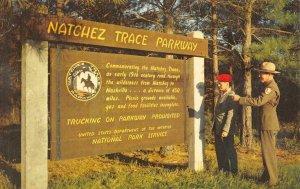 NATCHEZ TRACE PARKWAY National Park Ranger Mississippi c1950s Vintage Postcard