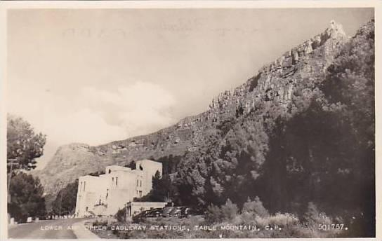 RP: Lower & Upper Cableway Stations, Table Mt , C.P. South Africa , 30-40s