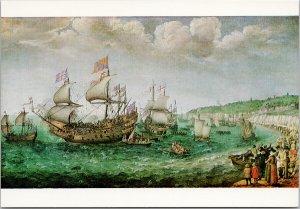 'The Embarkation Of The Elector Palatine, 1613' Adam Willaerts Art Postcard F58