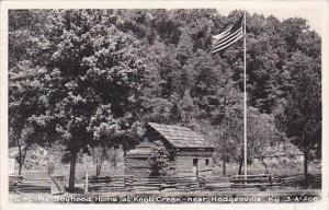 Kentucky Hodgenville Lincoln's Boyhood Home At Knob Creek 1953 Real Photo RPPC