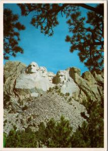 Mount Rushmore Black Hills South Dakota SD Unused Vintage Postcard D53
