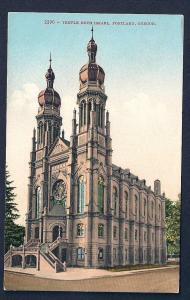 Temple Beth Israel Portland Oregon unused c1910