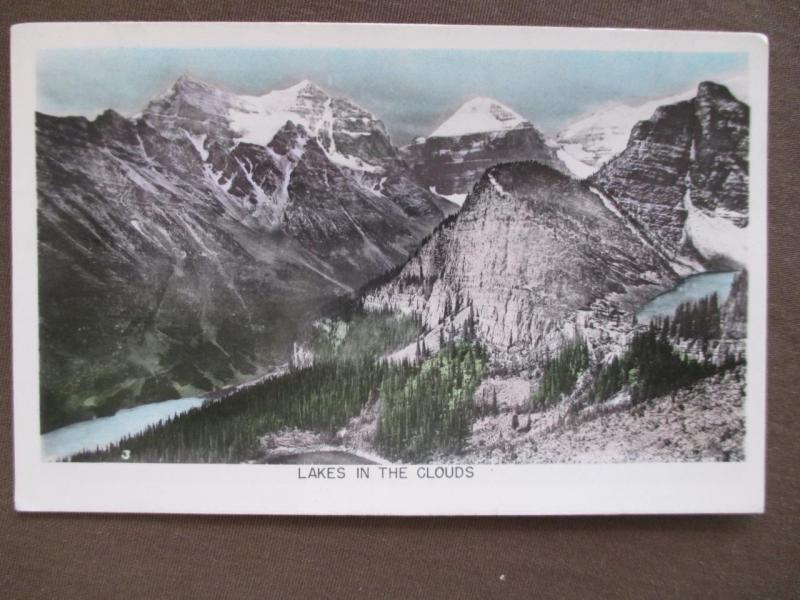 1953 Canada Photo Postcard - Lakes In The Clouds - Posted Banff, Alberta (UU71)