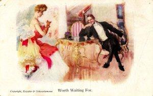 Worth Waiting For    Artist: Stuart Travis   (card is worn)