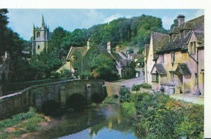 Wiltshire Postcard - The Bridge - Castle Combe - Ref 5216A