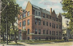 WAUKEGAN - James Alister HOSPITAL original 1912 view / was DORMS Shimer College