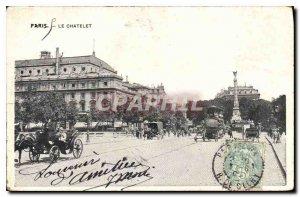 Old Postcard Paris Chatelet