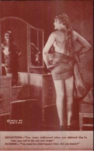 Sexy Pin-Up Woman Semi Nude Arcade Exhibit Card c1920s-30s #8