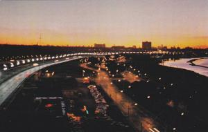 Skyline, Lakeshore Blvd., and Lake Ontario, Toronto, Ontario, Canada,  40-60s