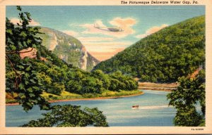Pennsylvania Delaware Water Gap Picturesque View 1941 Curteich