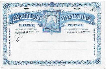 Honduras unused post card