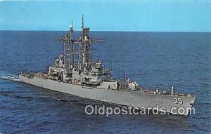 Nuclear Powered Guided Missile Cruiser Postcard Post Card USS Truxtun CGN 35