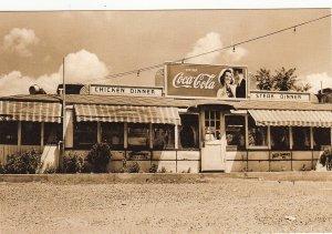 P1805 vintage coca cola chicken steak Restaurant reproduced postcard