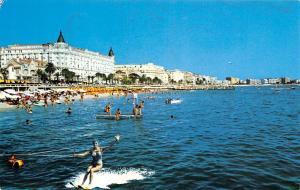 France La Cote d'Azur Cannes The Blue Coast La Plage et les Hotels Beach