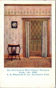 Stookton Illinois~AM Smith Spring SA Maxwell Wallpaper Decorator~c1910 Adv PC