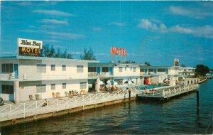 Blue Bay Motel Miami Beach Florida roadside US Color Print Postcard 21-3496