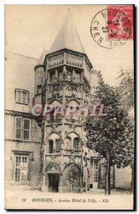 Old Postcard Bourges Old Town Hotel