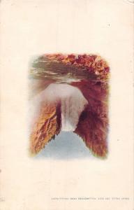 YELLOWSTONE PARK GREAT FALLS~NATIONAL PARK~HAYNES VIGNETTE PHOTO  POSTCARD 1910