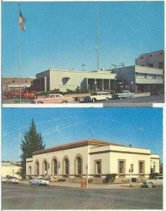 pc7976 postcard Merced California TWO