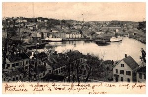 Connecticut Norwich , Aerial view of Harbor