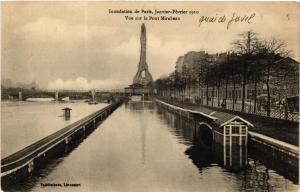 CPA Inondation de Paris, 1910. vue sur le Pont Mirabeau (562144)