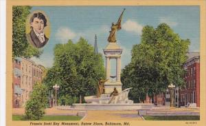 Francis Scott Key Monument Eutaw Place Baltimore Maryland