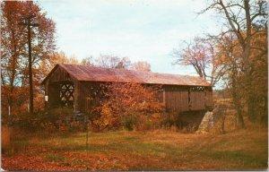Covered Railroad Bridge, Winchester New Hampshire Monadnock Region postcard
