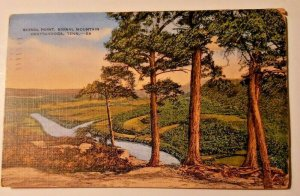 Vintage Postcard Signal Point Signal Mountain Chattanooga Tennessee 1944    752