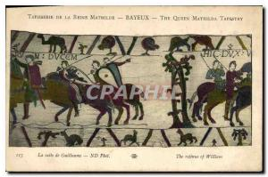 Old Postcard Tapestry of Queen Mathilde Bayeux The following Guillaume