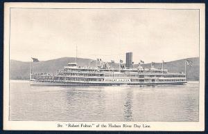 Steamer Robert Fulton Hudson Day Line unused c1905