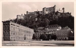 Salzburg Austria Kapitelplatz mit Festung Salzburg Kapitelplatz mit Festung