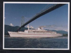 SS Regent Star Regency Cruises colour PC Vancouver, BC unused