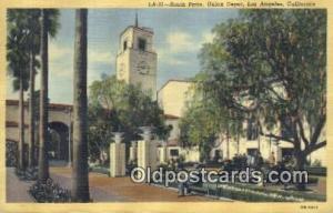 Union Depot, Los Angeles, CA, USA Depot Railroad 1946 light wear